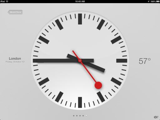 iOS 6 Clock