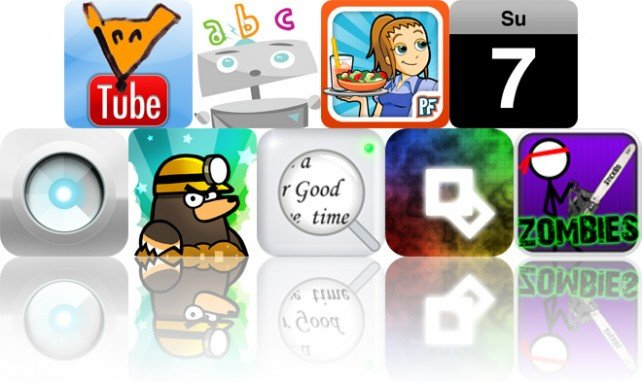 Today's Apps Gone Free: FoxTube, Robot ABCs With Jinxie, Diner Dash: Grilling Green Deluxe And More