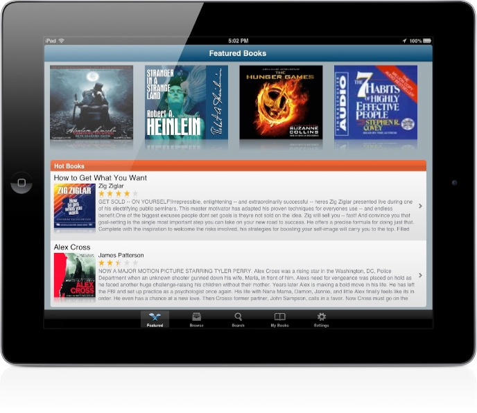 Audiobooks for iPad