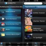 DirecTV version 2.3 (iPhone 5) - Main Menu and Search