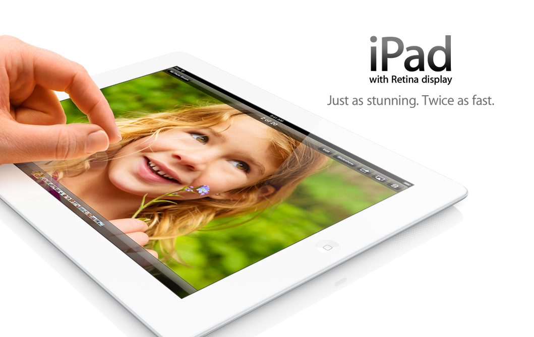 The iPad with Retina display