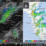 MyRadar Weather Radar version 2.5 (iPhone 5) - Gray and Road Maps