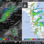MyRadar Weather Radar version 2.5 (iPhone 5) - Gray and Road Maps