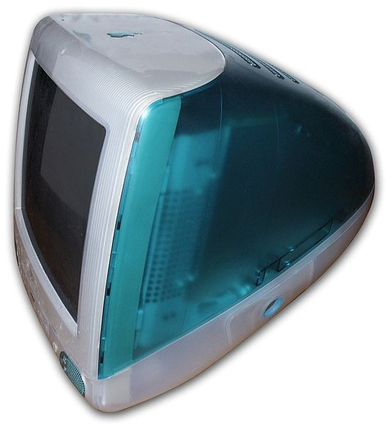 One of Jony Ive's first designs for Apple, the iMac Bondi Blue