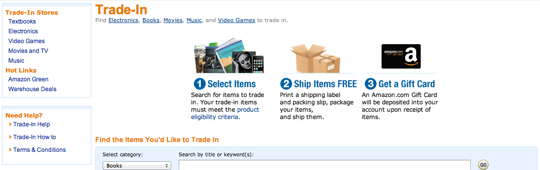 Amazon's Trade-In Program