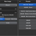 ArtStudio version 5.0 (iPhone 5) - New File Options
