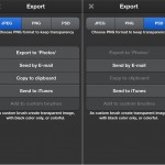 ArtStudio version 5.0 (iPhone 5) - Save and Export Options