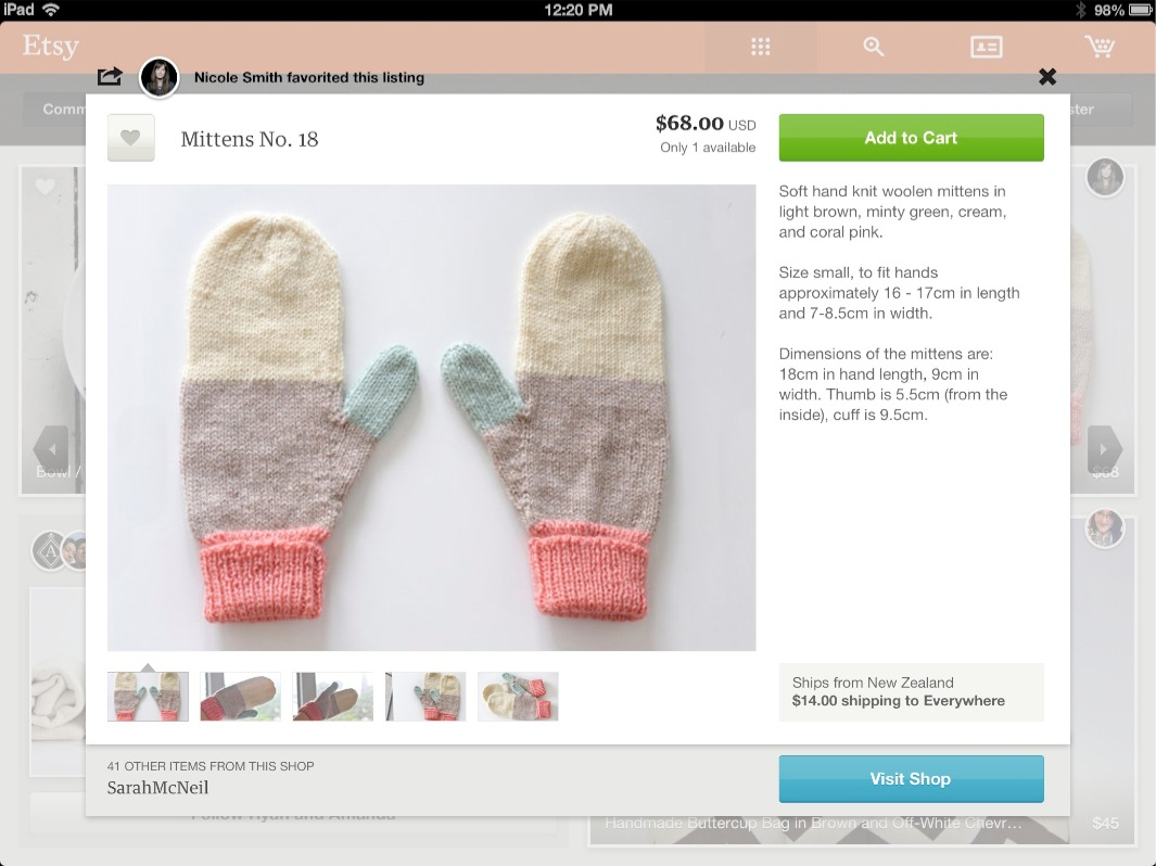 Etsy for iPad