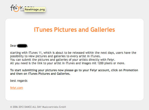 "Apparently iTunes 11 will be launching ""within the next days."""