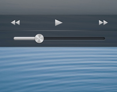The new lock screen music controls.