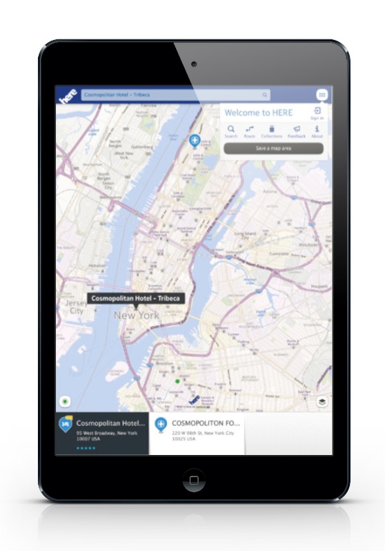 Nokia's HERE Maps, iPad mini