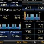 MotionX Sleep version 4.0 (iPhone 5) - Home and Sleep Log
