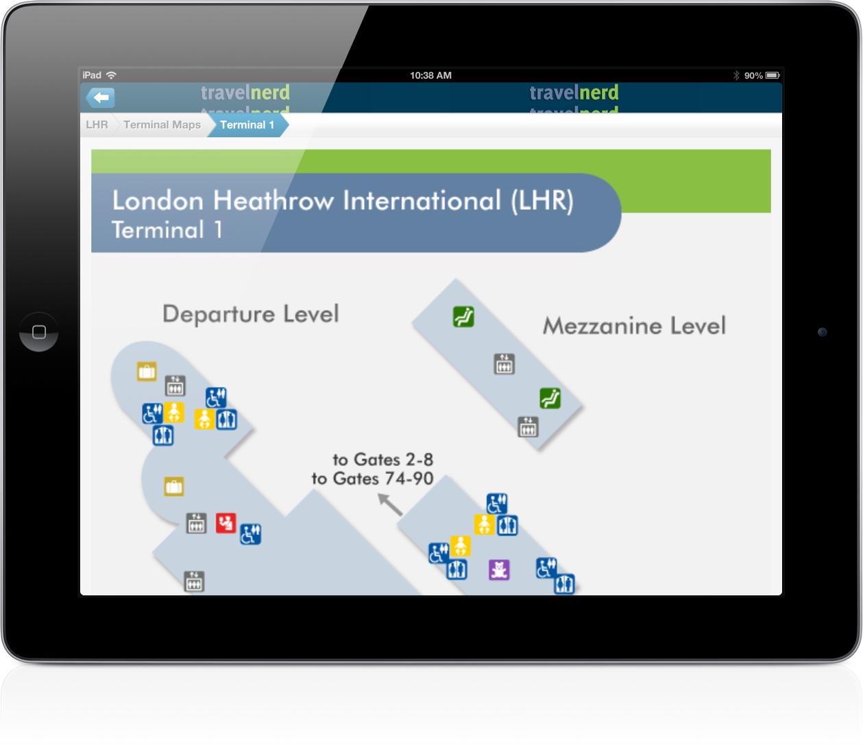 TravelNerds' Airport Guide for iPad