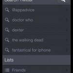 Twitterrific 5's main menu.