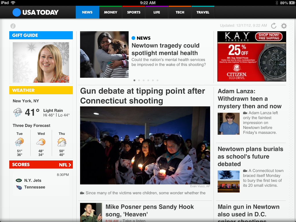USA Today for iPad Old Version