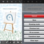 ArtStudio version 5.2 (iPhone 5) - Canvas and Quick Menu
