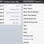ArtStudio version 5.2 (iPhone 5) - Quick Menu Configuration