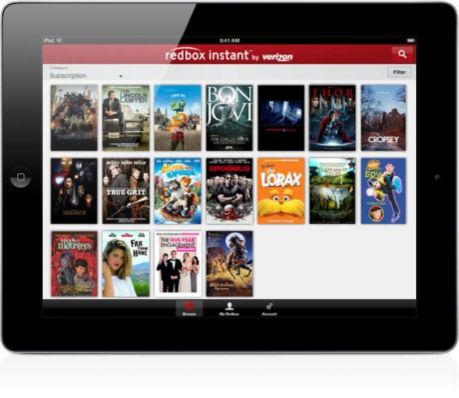 Redbox Verizon Movie Service - iPad