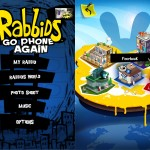 Rabbids Go Phone Again version 1.1.4 (iPhone 4) - Main Menu and World