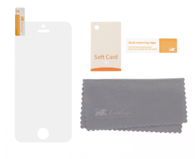 The screen protector comes with accessories to make installation easier.