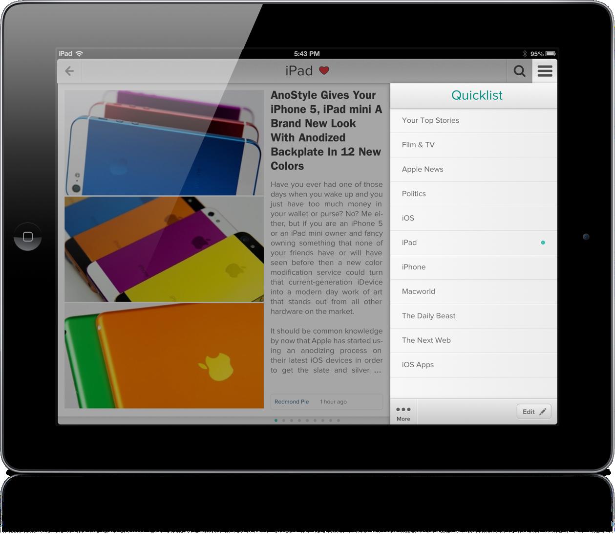 Zite 2.0 iPad