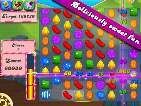 Candy Crush Saga , the sweet casual game that has taken the App Store