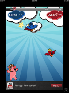 Attacking Birds vs Scared Piggies Free by Bernard Gym screenshot