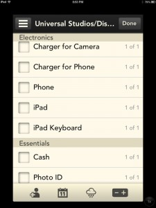 Stow - the modern packing list by Apptifica, LLC screenshot