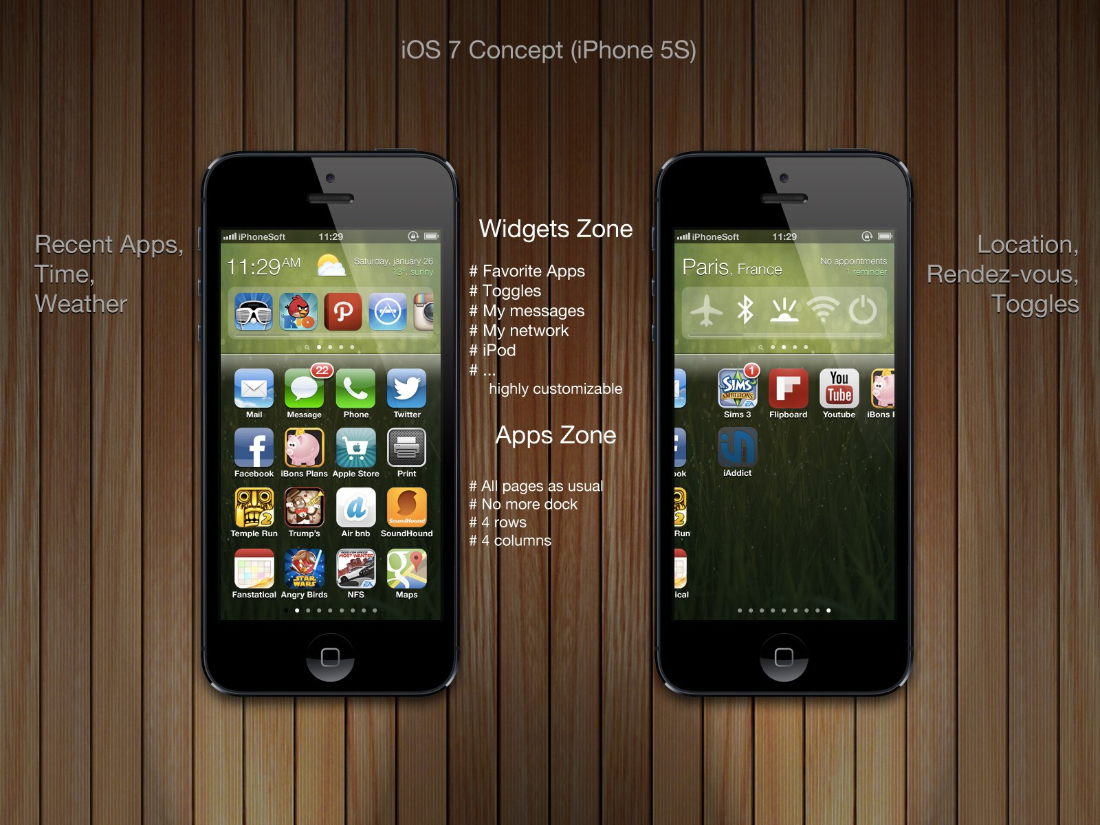 An iOS 7 concept