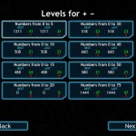 Math Fleet version 1.2 (iPad 2) - Addition and Subtraction Levels