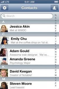 Notable - Contact Notes Made Easy by David Keegan screenshot