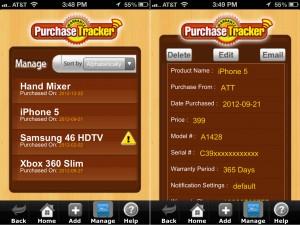Purchase Warranty Tracker - Manage
