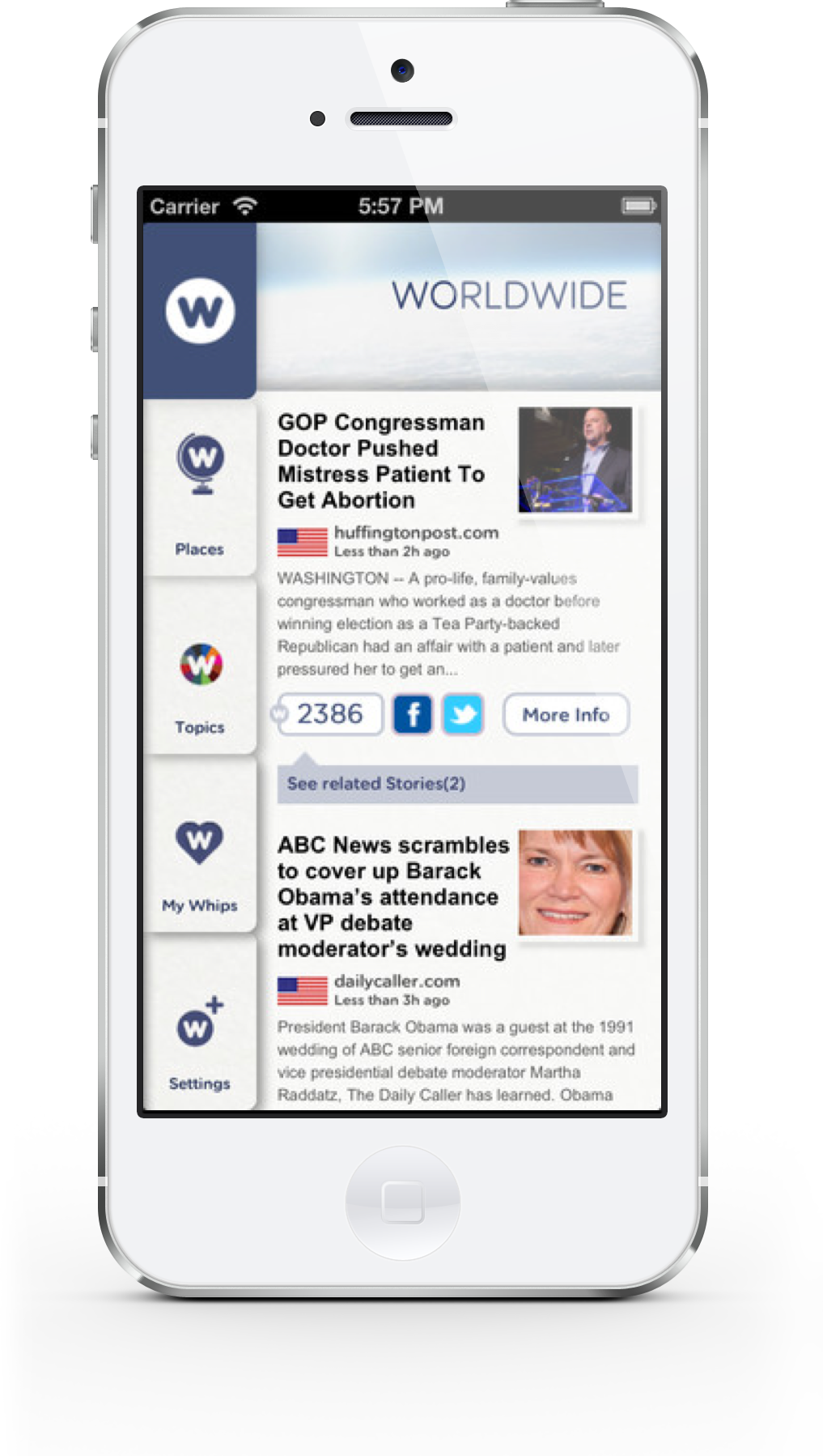 NewsWhip for iPhone