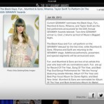 Grammys for iPad 2