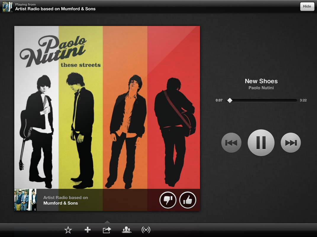Spotify Radio on iPad