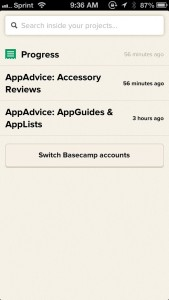Basecamp by 37signals screenshot