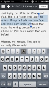 Write for Dropbox - A Plain Text Editor and Notes App by Tanmay Sonawane screenshot