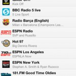TuneIn Radio for iPhone 4