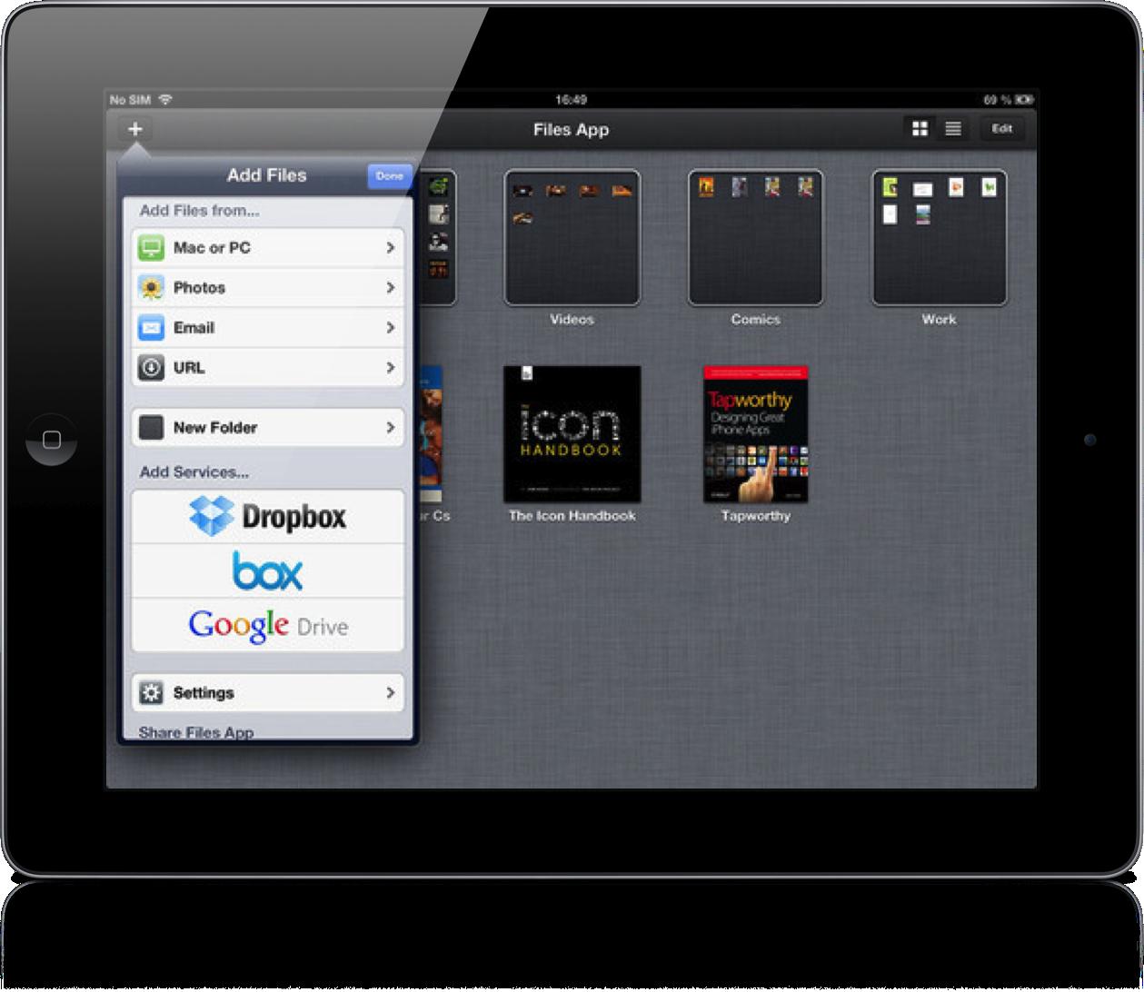 Files App for iPad