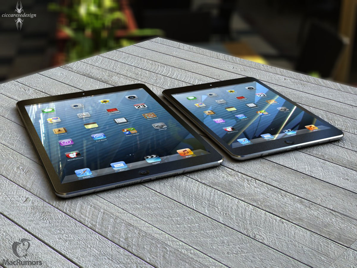 iPad 5 next to iPad mini