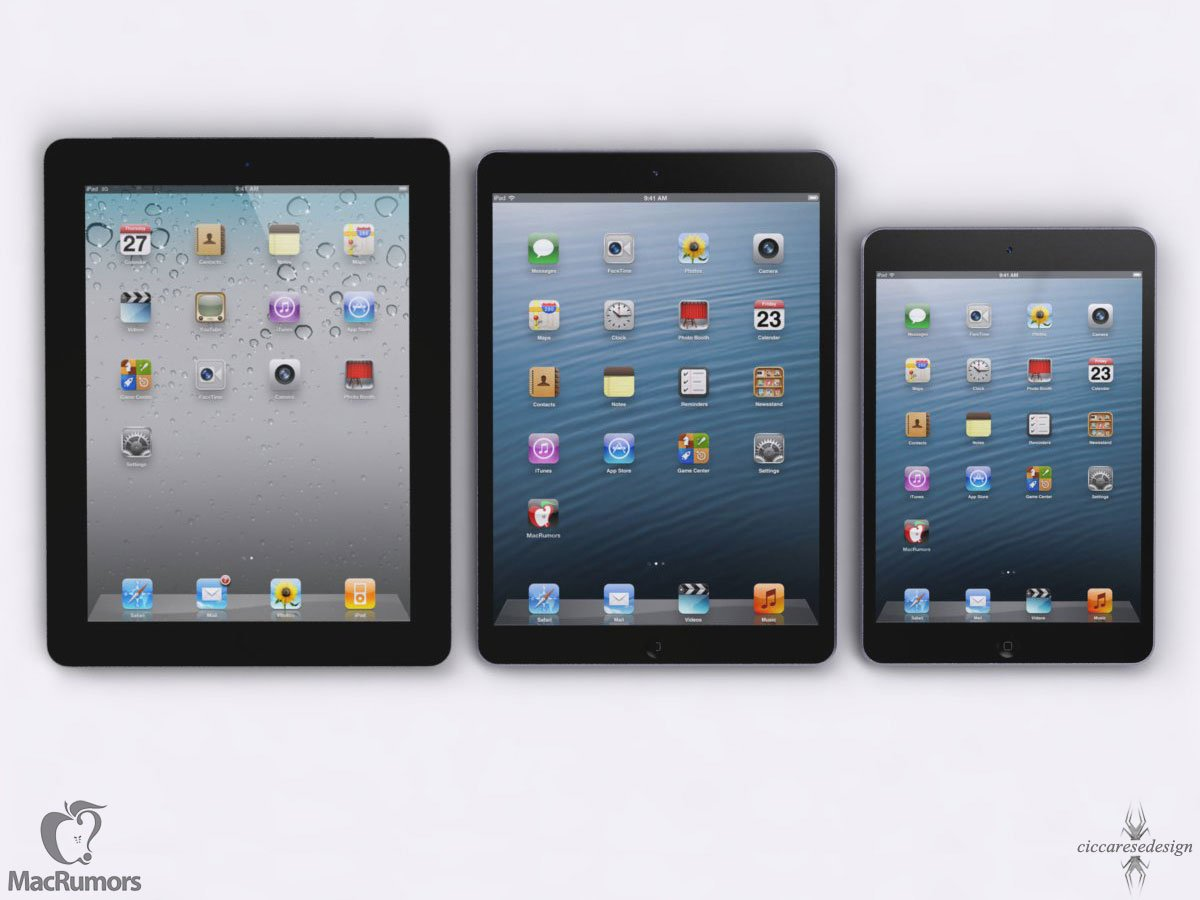 "iPad 4, ""iPad 5,"" and iPad mini"