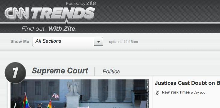 CNN Trends by Zite