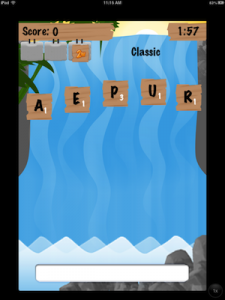 Word-A-Fall by Just Mobile Programs screenshot