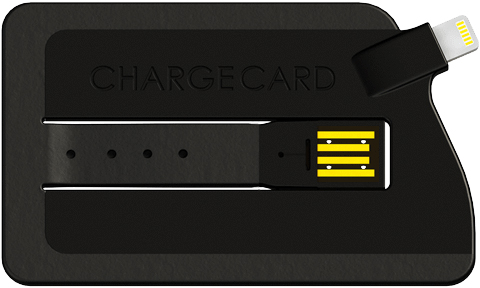 The Lightning-enabled ChargeCard will be available in May.