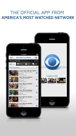 CBS app on iPhone
