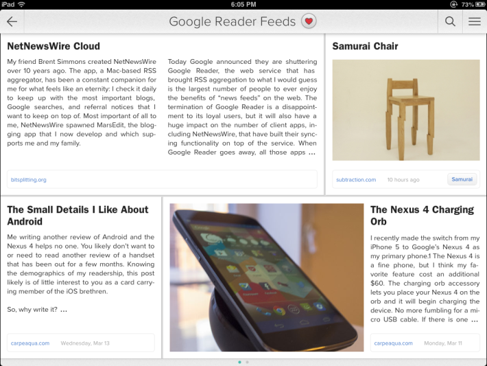 Zite welcomes Google Reader users