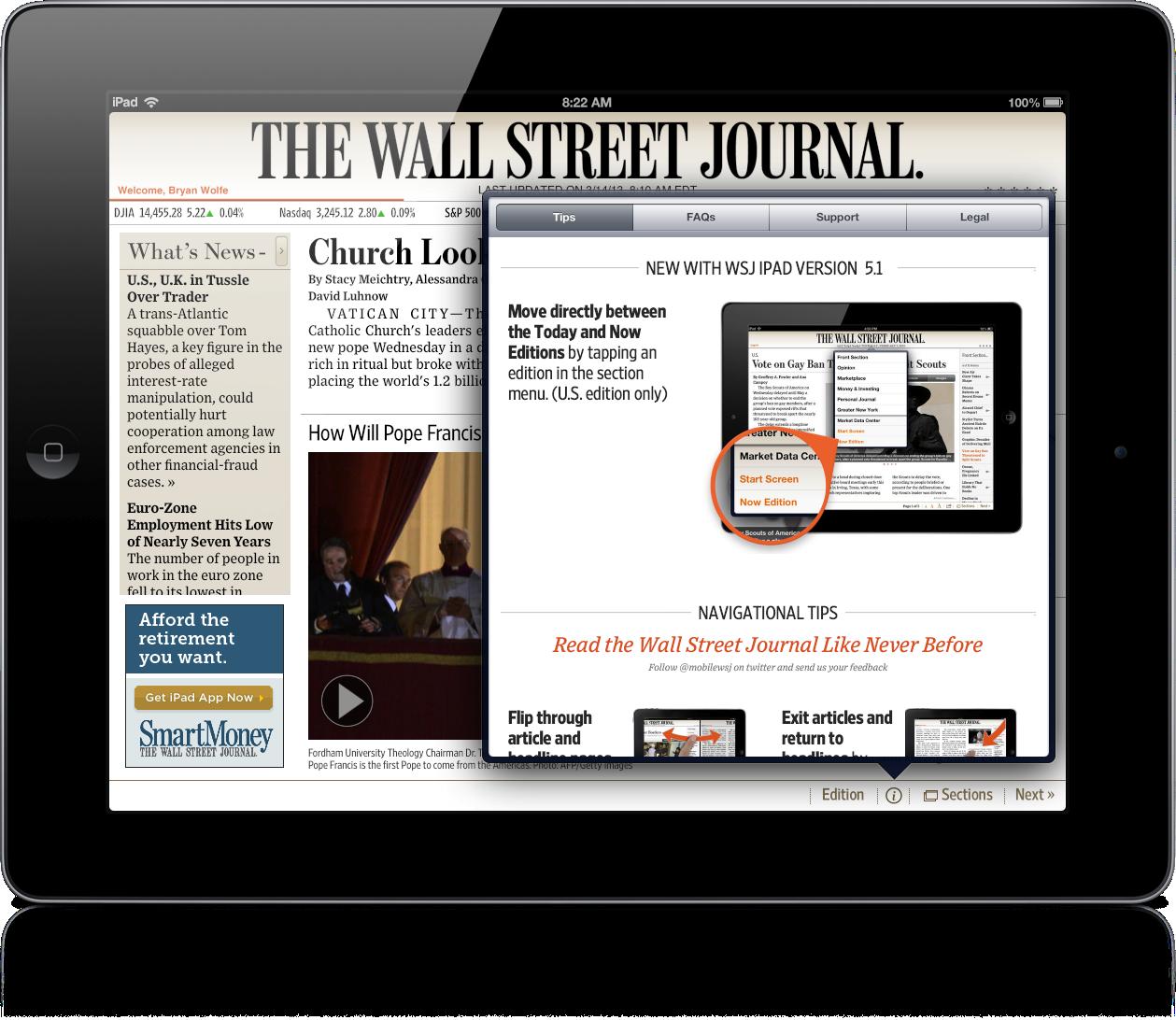 wall street journal app for ipad