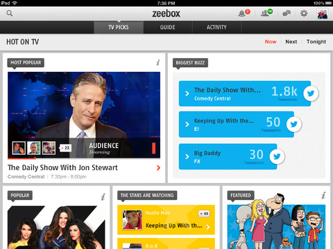 Zeebox for iPad