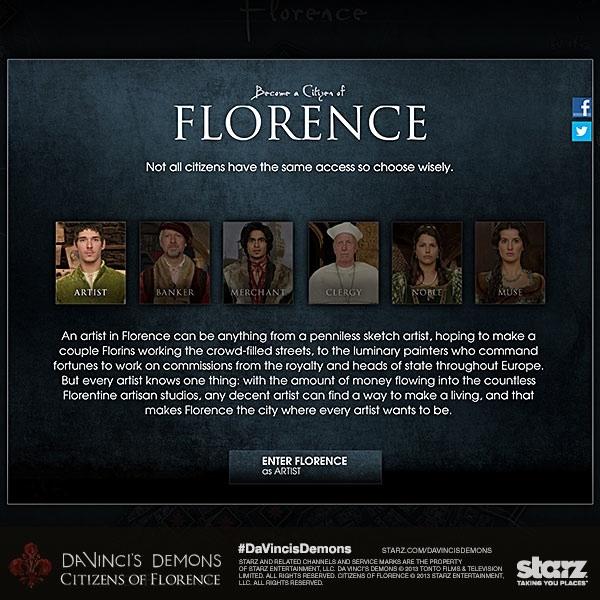 Da Vinci's Demons: Citizen's Of Florence