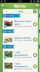 Nutrino - Your Personal Nutritionist, tasty food helps diet to lose/gain weight! by ComoComo ltd screenshot